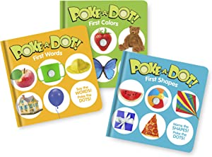 Melissa & Doug Children's Books 3-Pack – Poke-a-Dot First Words, First Shapes, First Colors