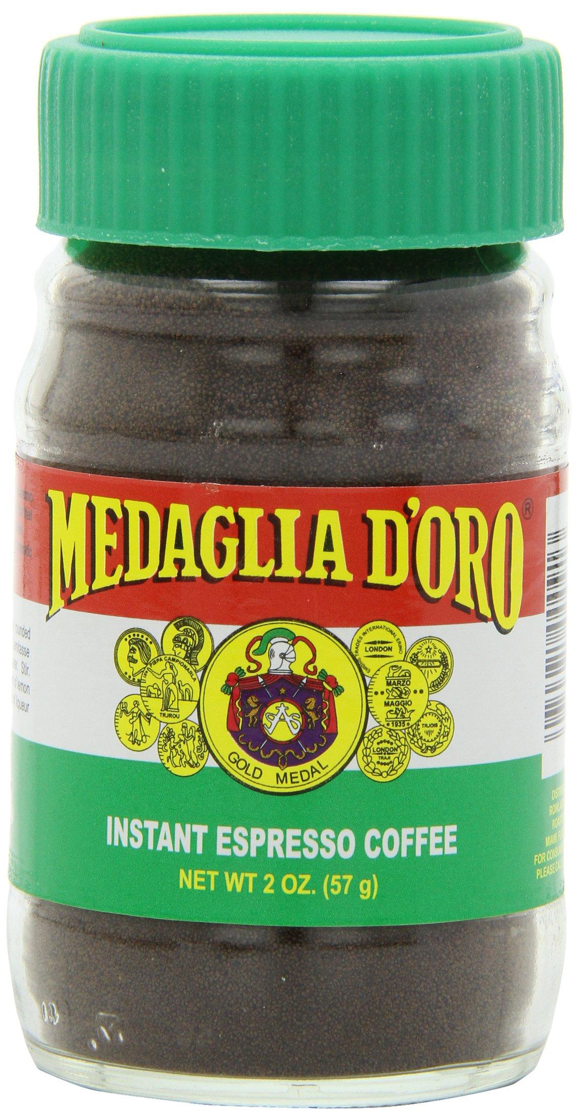 Medaglia D'Oro Instant Espresso Coffee, 2 Ounce (Pack of 12) by MEDAGLIA D'ORO