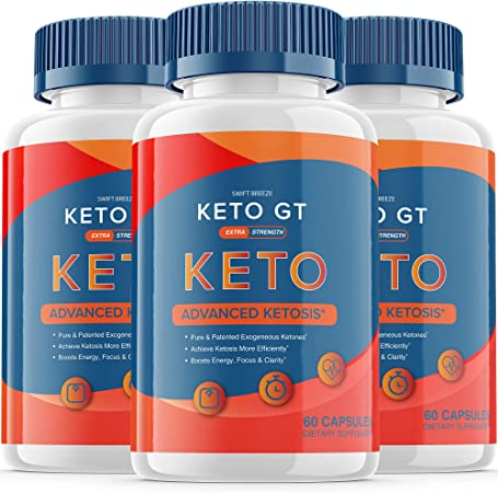 (3 Pack) Keto GT Pills Ketogt Advanced Weight Loss Extra Strength Formula Bottle Ketp g t Capsulas Official One Shot Pastillas dr Tablets 800mg BHB Supplement (180 Capsules)