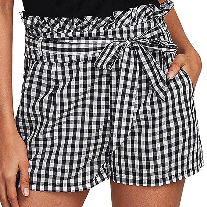Kurze Hosen Damen Luckycat Shorts Damen Sommer Gestreifte Damen Taillen  Quasten Shorts Shorts Hose Sommerhosen Pants 63e86c6e5e