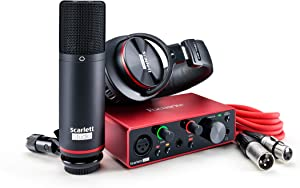 Focusrite Scarlett Solo Studio (3rd Gen) USB Audio Interface and Recording Bundle with Pro Tools | First