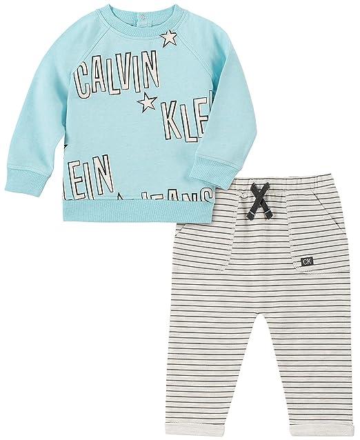 Amazon.com: Calvin Klein - Conjunto de pantalón para bebé (2 ...