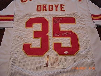 cheaper 39ce7 8b648 Christian Okoye Autographed Jersey - Nigerian Nightmare coa ...