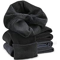 Warm Leggings for Womens, Tencoz 2 Pack Fleece Lined Leggings Womens Premium Waist Thick Pant - Super Soft Tights Pants Full Length Slim Winter Thermal Tights
