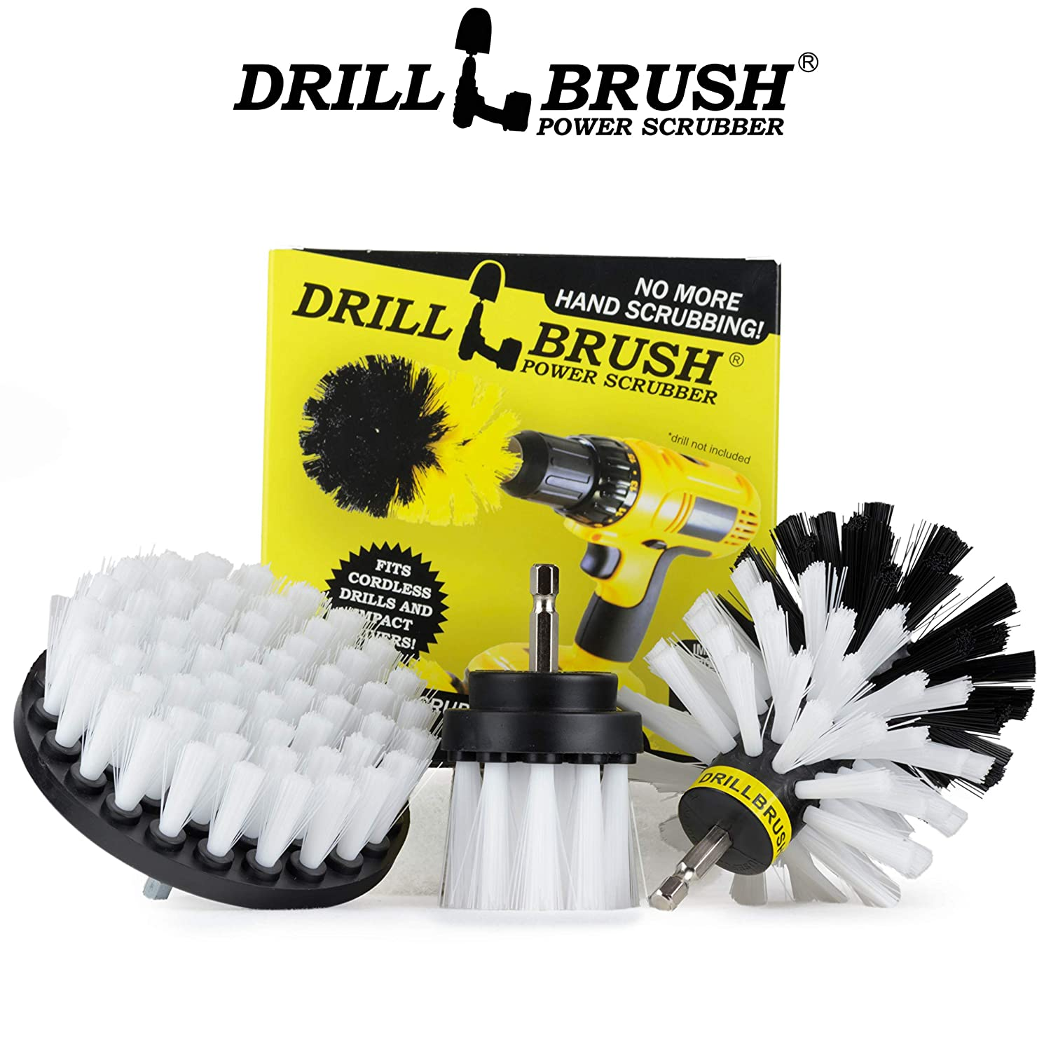 Drill Brush Drill Brush Attachment Drill Brush Kit Nylon Drill Brush Drill Brush Attachment for Cleaning Grill Brush Original Drill Brush Power Scrubber Cleaning Drill Brush Set