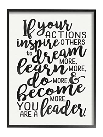 The Kids Room by Stupell The Actions Inspire Others You are a Leader Framed Giclee Texturized Art Prints
