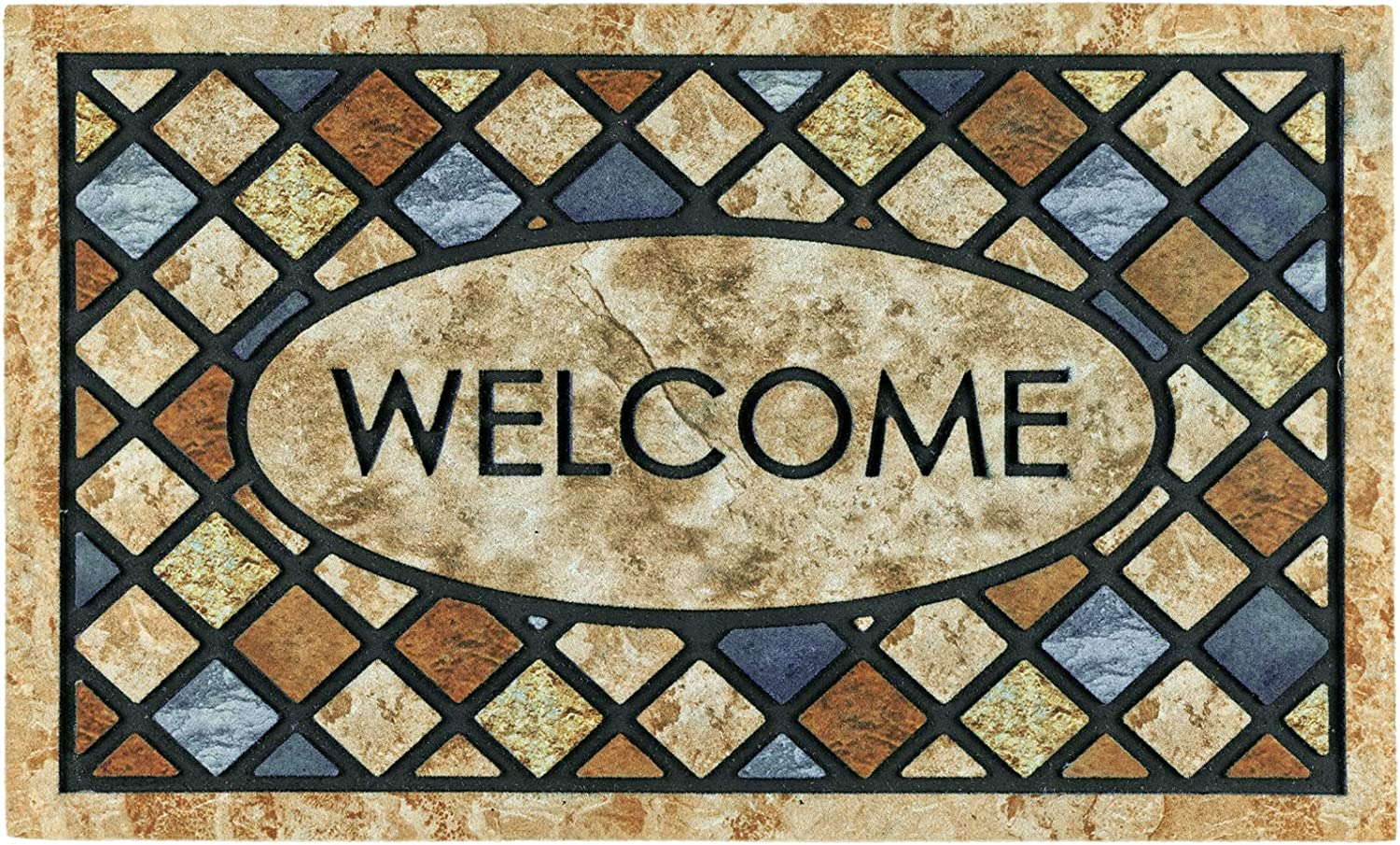 CHICHIC Door Mat Welcome Mat 17x 30 Inch Front Door Mat Outdoor for Home Entrance Outdoor Mat for Outside Entry Way Doormat Entry Rugs, Heavy Duty Non Slip Rubber Back Low Profile, Welcome