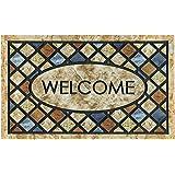 CHICHIC Door Mat, Welcome Mat 17x 30 Inch Front Door Mat Outdoor for Home Entrance Outdoor Mat for Outside Entry Way Doormat