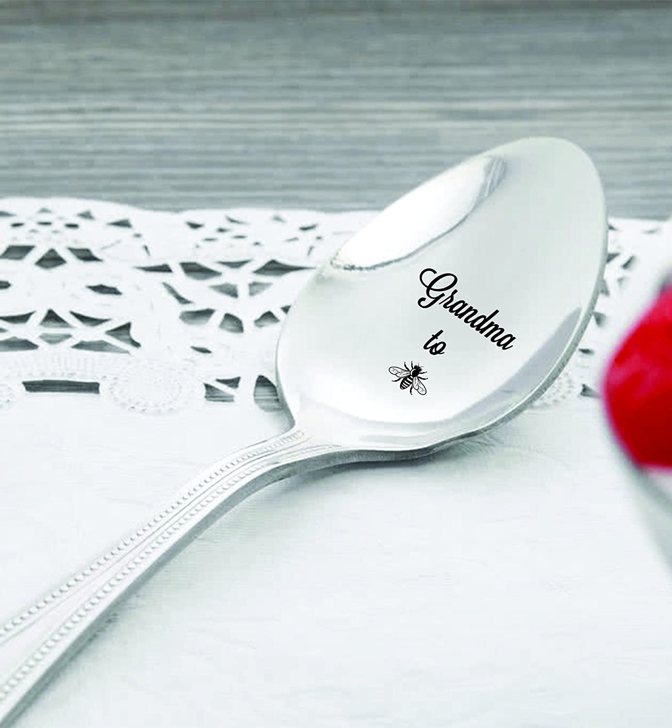 Bee Spoon Grandma To Be Hand Stamped Spoon Pregnancy Announcement