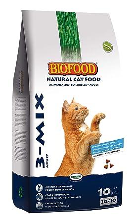 Pienso biofood para gato - 3 Mix - 10 kg - gato: Amazon.es: Productos para mascotas