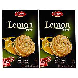 Dare Creme Cookies 10.2 ounce (pack of 2) (Lemon)