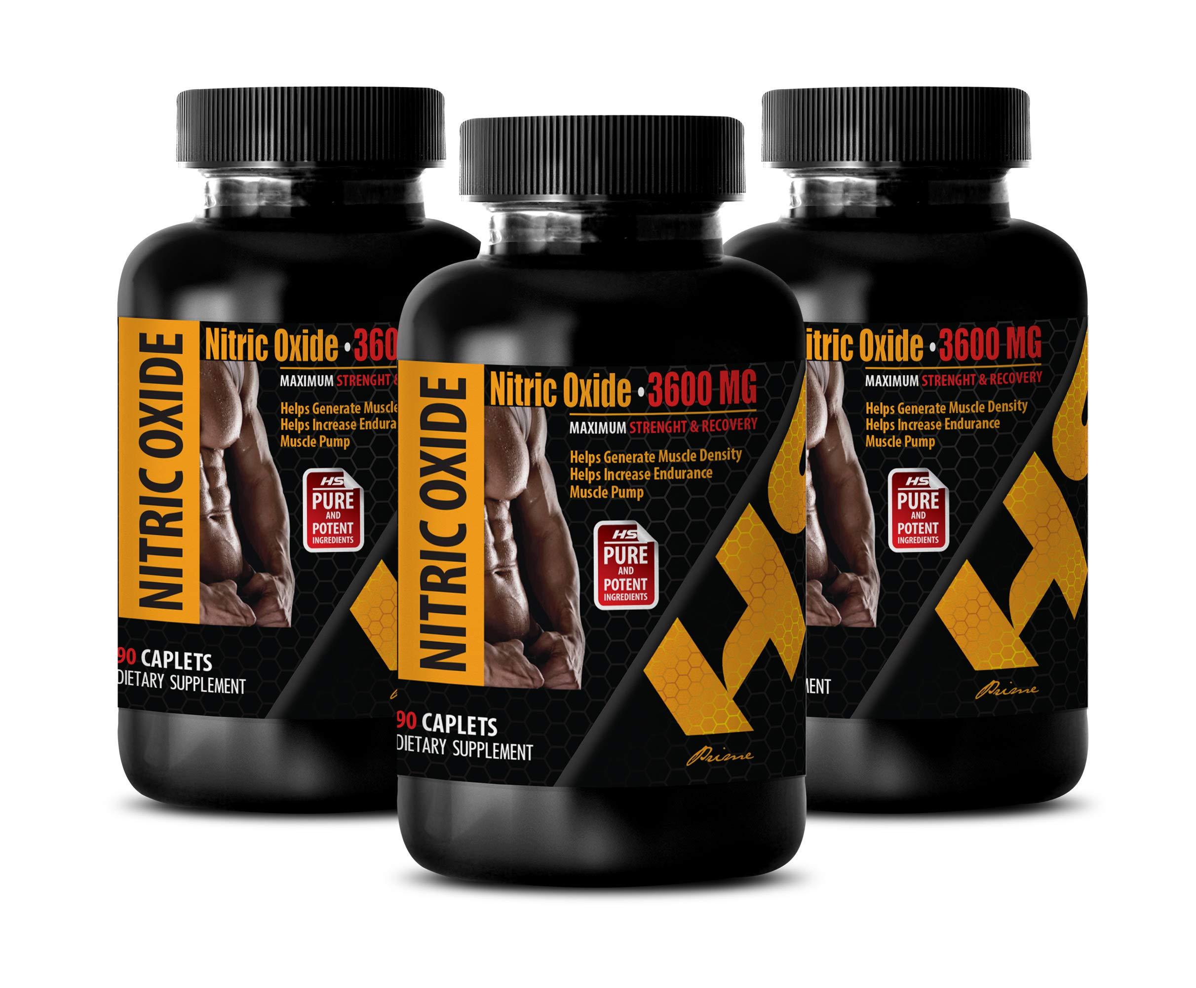 Bodybuilding Vitamins Men - Nitric Oxide 3600 MG - Maximum Strength & Recovery - Nitric Oxide Women - 3 Bottles 270 Caplets
