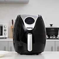 Geepas 1350W Digital Air Fryer 3.2L Hot Air Circulation Technology for Oil Free Low Fat Dry Fry Cooking Healthy Food - Non-Stick Basket, Dishwasher Safe, Overheat Protection - 2 Years Warranty