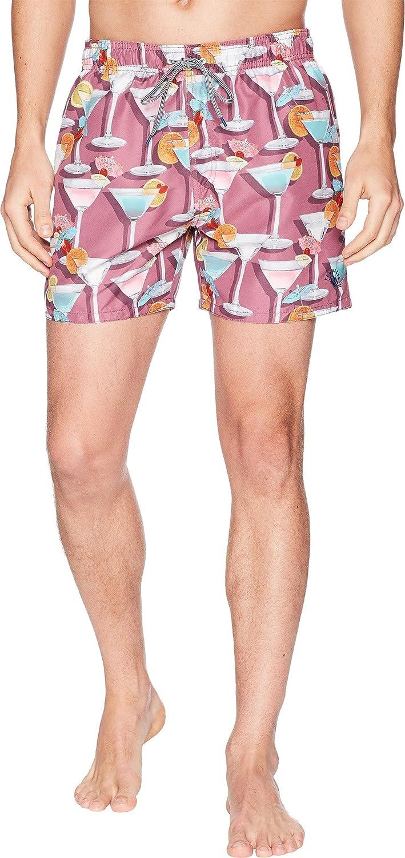 d6876d9168 Amazon.com: Ted Baker Men's Morley Martini Print Swim Trunks Pink 5:  Clothing