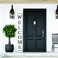 Welcome Sign for Front Door, Wood Rustic Front Porch Home Décor, Farmhouse Porch Sign Decorations, Outdoor Signs for…