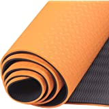 """Yoga Mat,BORLLNAY Pro Yoga Mat Eco Friendly Non Slip Fitness Exercise Mat with Carrying Strap-Workout 72""""x24"""" Extra Long…"""