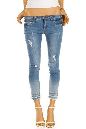 2a834413b86b Bestyledberlin Damen Röhrenjeans, knöchellange Skinny-Jeans, kurze enge  Hosen, Stretch Hüftjeans j36f