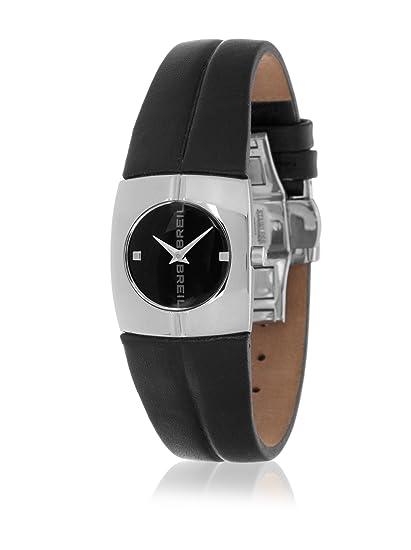 Breil 2519280681 - Reloj con correa de piel y tela para mujer, color negro/
