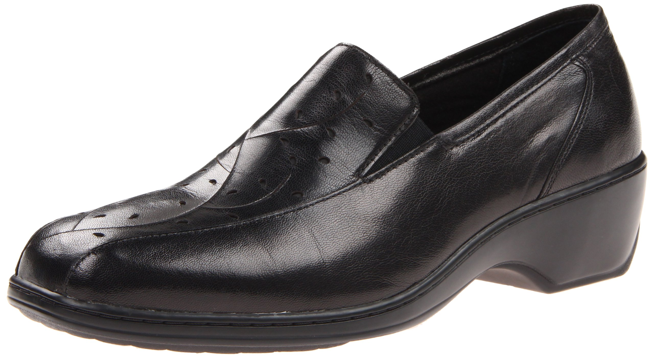 Aravon Women's Kiley Flat, Black, 8 B US