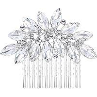 Ever Faith Bridal Silver-Tone Lots Marquise-Shape Clear Austrian Crystal Hair Comb N00406-1