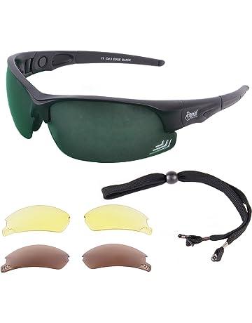 658d5cf8741b1 Rapid Eyewear Edge Black UV400 SUNGLASSES FOR GOLF With Interchangeable  Polarised Mirror   Low Light Lenses