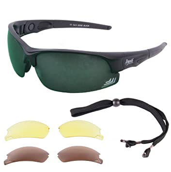 d999ec283ff Rapid Eyewear Edge Black UV400 SUNGLASSES FOR GOLF With Interchangeable  Polarised Mirror   Low Light Lenses