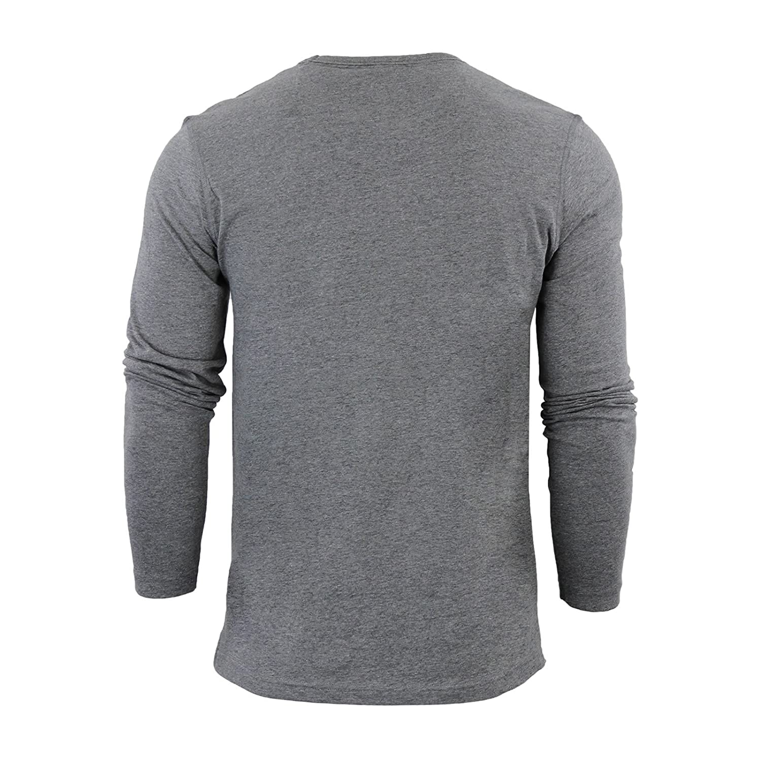 b385835654c5 Mens T-Shirt by Brave Soul Prague Cotton Long Sleeved Crew Neck Casual Top:  Amazon.co.uk: Clothing