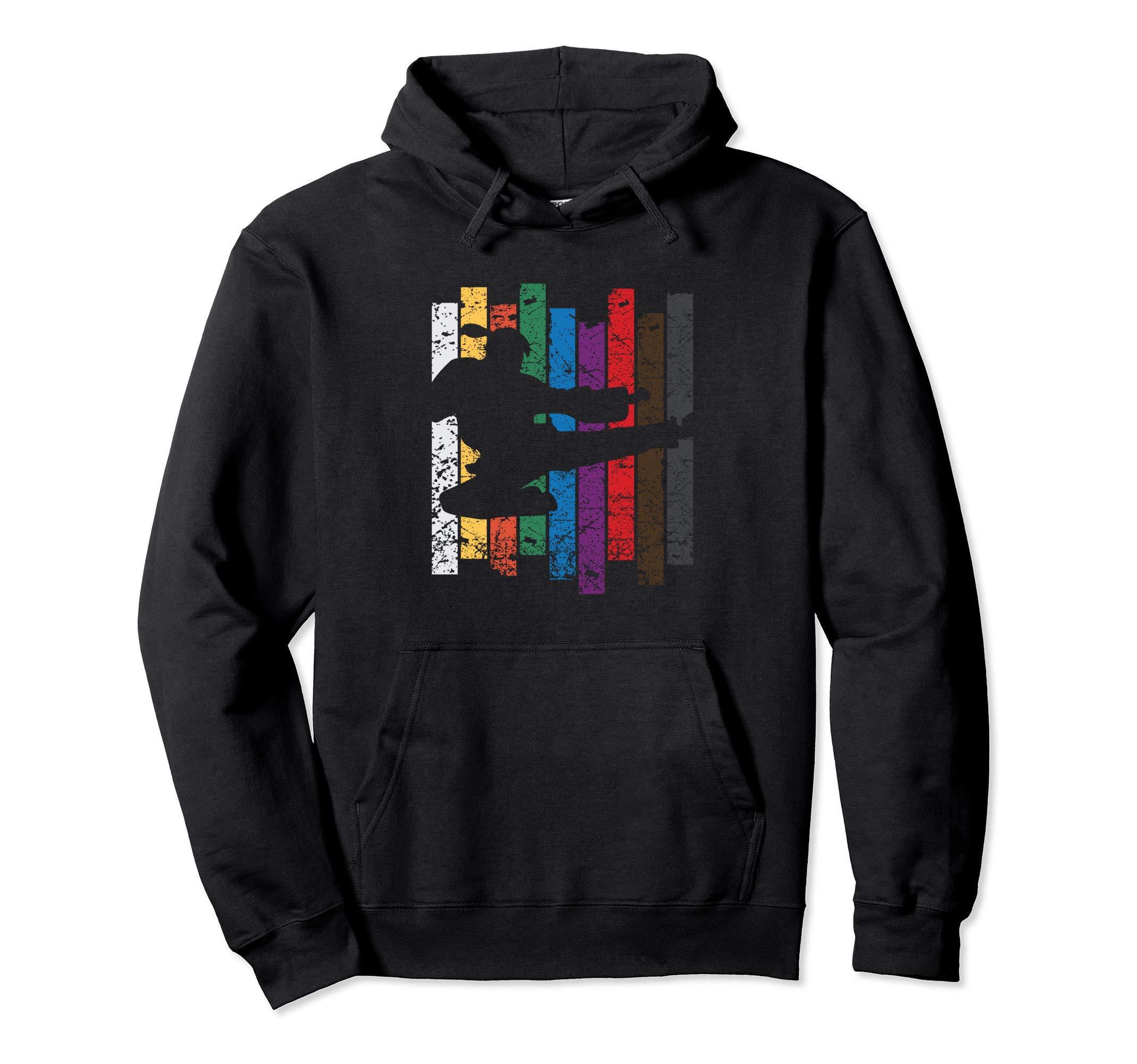 Taekwondo Kick Martial Art Rainbow Karate Pullover Hoodie by InGENIUS Taekwondo Shirts