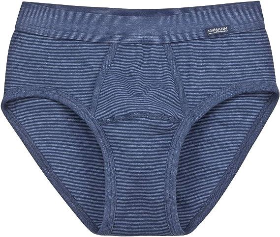 TALLA 10. Slip para hombre serie ISCO con abertura color azul marino tallas 5-9 de AMMANN