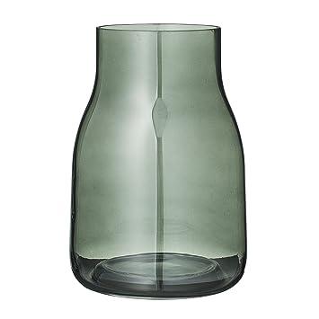 Bloomingville Vase Blumenvase Glas Grün Amazonde Küche Haushalt