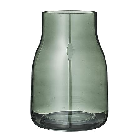 Bloomingville Vase Dark Green Glass Amazon Kitchen Home