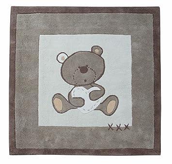 candide 372740 teppich tinours 100x100cm braun beige mit groem brchenmotiv - Teppich Babyzimmer Beige
