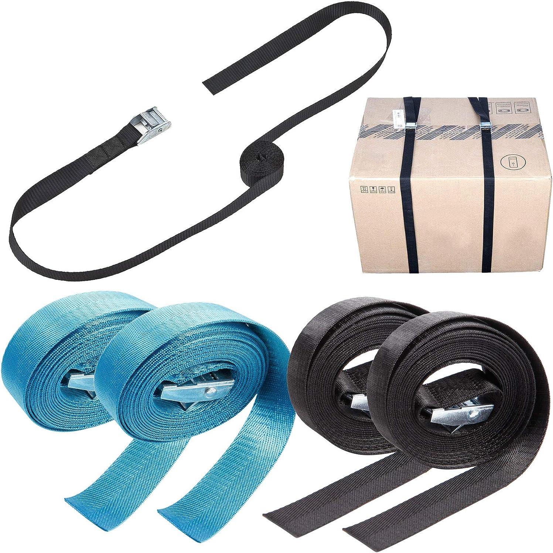 Azul X2+ Negro X2 4 und Cinta Trincaje de Mercancia para Embalar Mercancia Bandeja Azul//Negro Selecci/ón