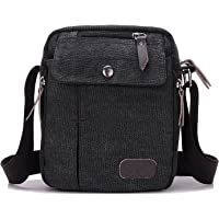NOTAG Messenger Bag para Hombres, Canvas clásico Crossbody Bag Bolso de Mano con Correa Ajustable multifunción para Deporte al Aire última intervensión Bolsa de Hombro Casual Bolsa Antirrobo