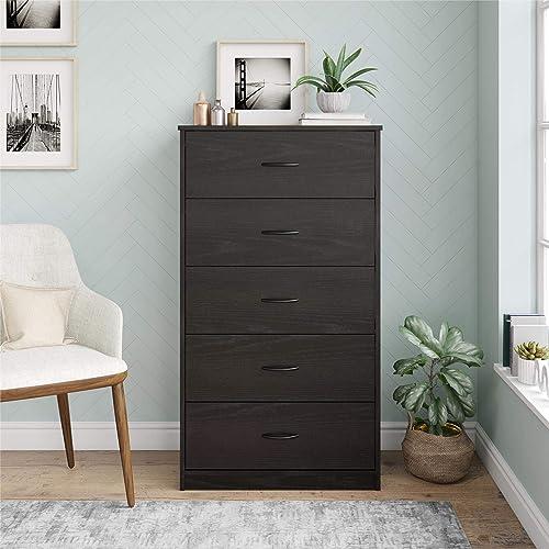 Best bedroom dresser: Mainstays Classic 5 Drawer Dresser Black Oak
