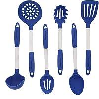 Conjunto De Utensilios De Cocina Azul - Acero