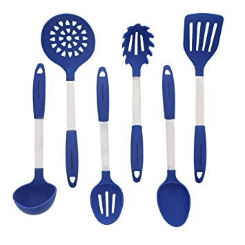 Bleu Set d\'Ustensiles de Cuisine - Ustensiles de Cuisine en Acier ...