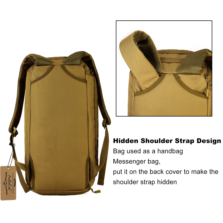 177b49d84e Buy ArcEnCiel Men Gym Bag Backpack Rucksack Tactical Military Molle  Shoulder Bags Waterproof Shoes Storage Sports Handbag (Coyote Brown) Online  at Low ...