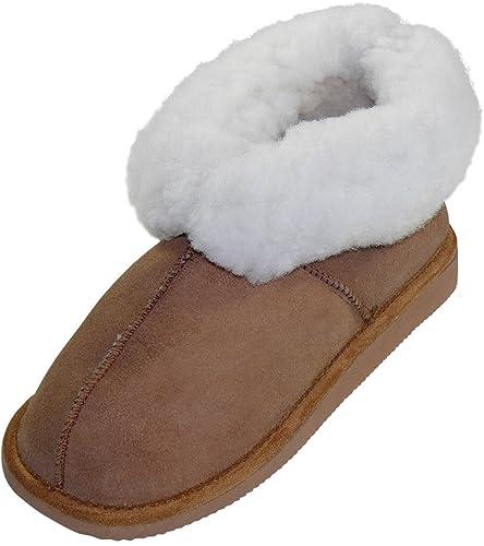 Harrys-Collection Damen Lammfell Stiefel mit fester Sohle in 4 Farben, Farben:grau, Schuhgröße:37