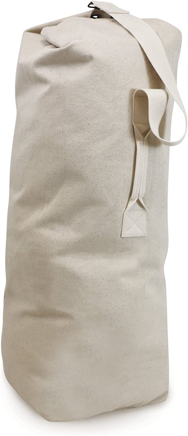 Homz Canvas Laundry Duffle Bag, Heavy Duty,Khaki