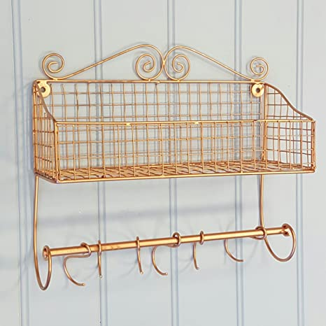 Rame mensola da parete Display cucina camera bagno stile shabby chic ...
