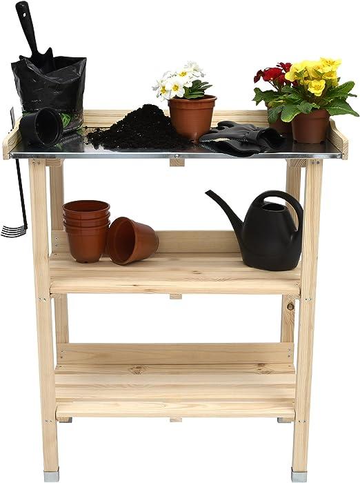 Moorland Mesa jardinería de Cultivo Madera Placa de cinc Floralux ...