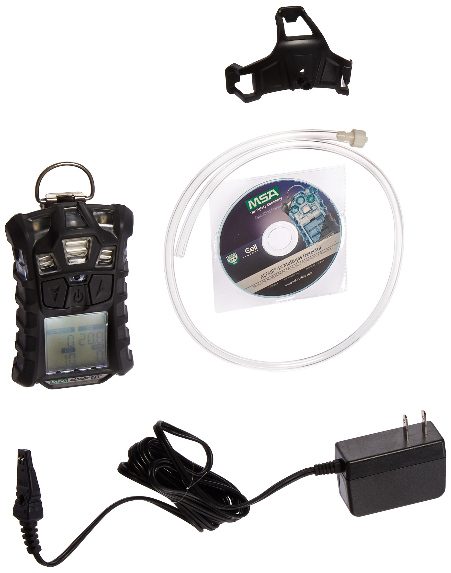 MSA (Mine Safety Appliances) 10107602 Altair 4X Portable Combustible Gas, Oxygen, Hydrogen Sulfide and Carbon Monoxide Monitor with Motion Alert