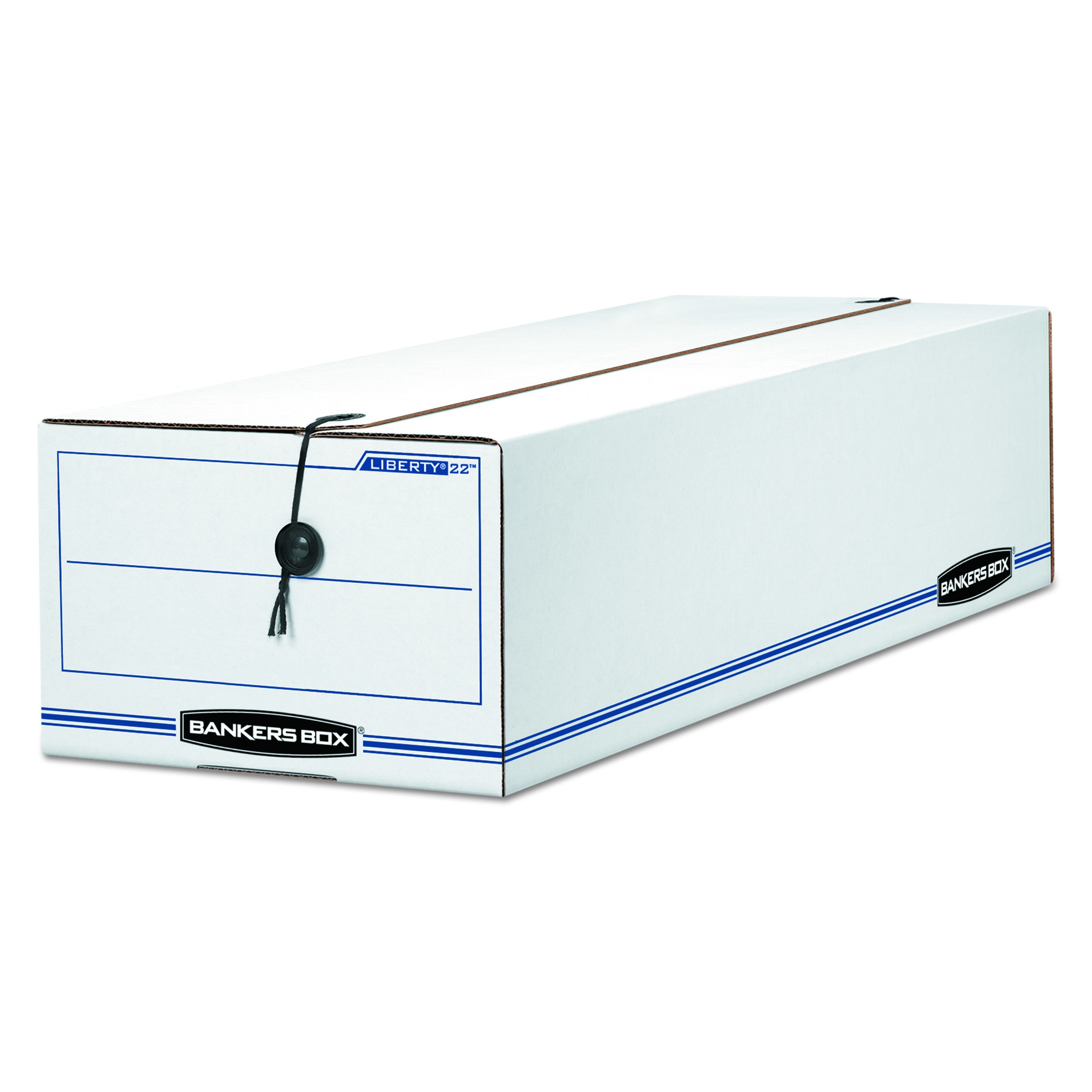 Bankers Box Liberty Check and Form Boxes, Records Forms, 7'' x 8.75'' x 23.75'', 12 Pack (00018)