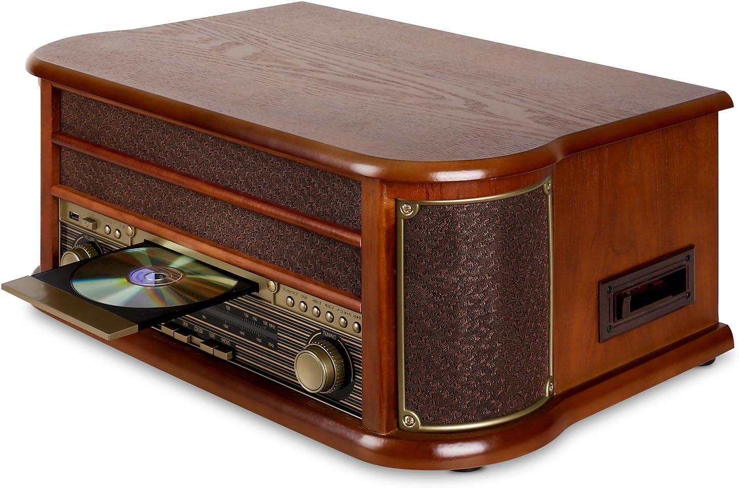auna Belle Epoque 1908 - Tocadiscos Retro , Equipo estéreo , Radio ...