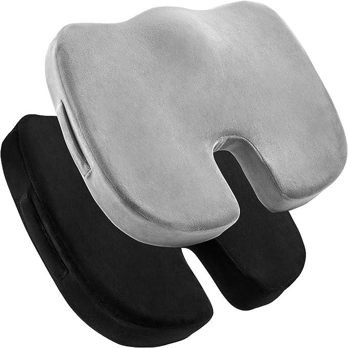 Office Chair Pad Thickening Thermal Waist Belt Cushion Cushion for Living Room Study-purple-5hole52/×48cm Plush Seat Cushion