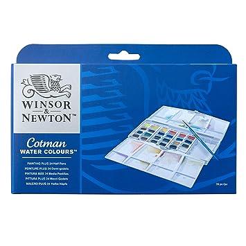 Winsornewton Cotman Sulu Boya Plus Boyama Seti 24xyarım Tablet