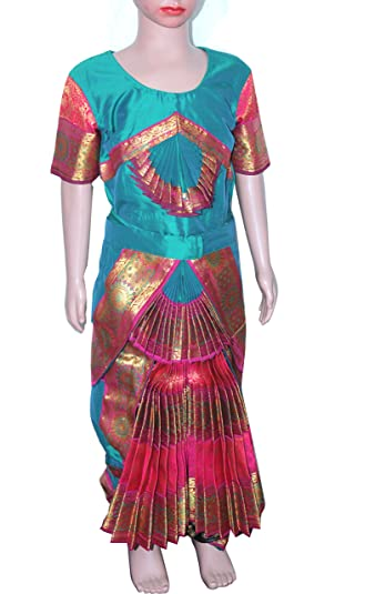 Bharatanatyam Readymade Silk Cotton Costume For Fancy Dress Competitions/School Events/Annual Functions 4  sc 1 st  Amazon.in & Bharatanatyam Readymade Silk Cotton Costume For Fancy Dress ...