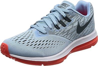 Nike Air Zoom Winflo 4 - Zapatillas de Running para Mujer, (Ice Blue/Blue Fox/Bright Crimson/White), 7 M US: Amazon.es: Zapatos y complementos