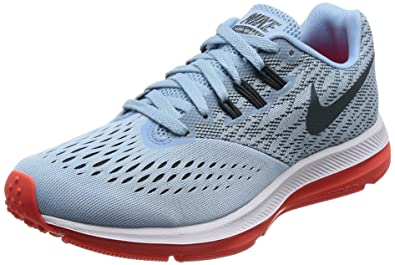 cab5890d127 Nike New Women s Zoom Winflo 4 Running Shoe Ice Blue Crimson 6